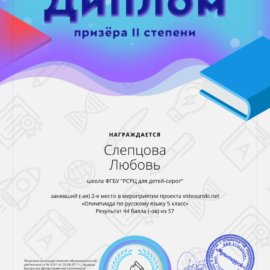 19837603. 93697615 Sleptsova Lyubov 270x270 Достижения обучающихся