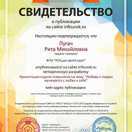 Svidetelstvo proekta infourok.ru 599281 270x270 Достижения сотрудников