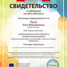 Svidetelstvo proekta infourok.ru 9815731 270x270 Достижения сотрудников
