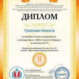 Gumenyuk Nikita infourok.ru 1642870009666 270x270 Достижения обучающихся
