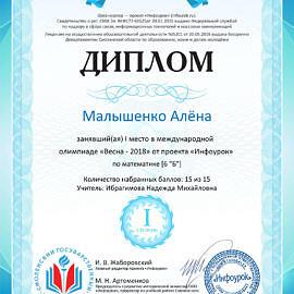 Malyshenko Alyona infourok.ru 1642892125972 270x270 Достижения обучающихся