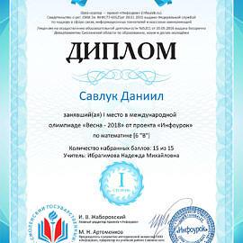 Savluk Daniil infourok.ru 1642829636731 270x270 Достижения обучающихся