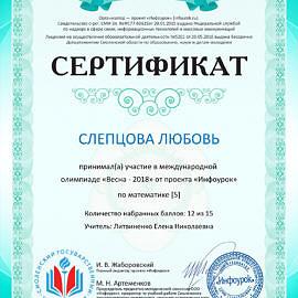 Sertifikat proekta infourok.ru 1642871282222 270x270 Достижения обучающихся