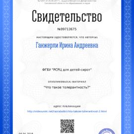 Svidetelstvo CHto takoe tolerantnost3F 270x270 Достижения сотрудников