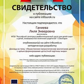 Svidetelstvo proekta infourok.ru 1175058 270x270 Достижения сотрудников