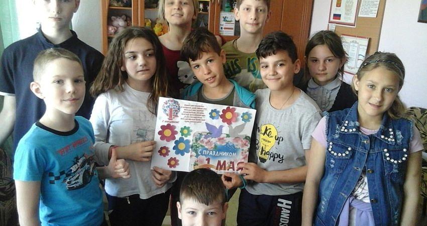 Коллективное творчество детей — «Первомай»