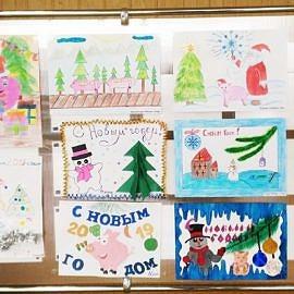 Vystavka novogodnih otkrytok. 270x270 Новогодняя выставка творческих работ