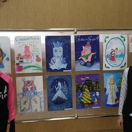 YUnye avtory na fone svoih rabot. 270x270 Новогодняя выставка творческих работ