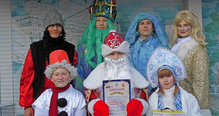 На арене Дед Мороз