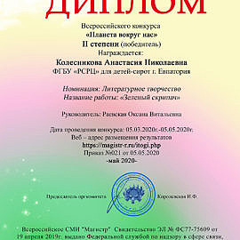 Diplom Magistr22 270x270 Достижения обучающихся