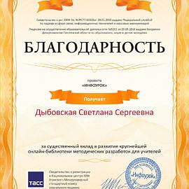 Svidetelstvo proekta infourok.ru 2204300 270x270 Достижения сотрудников