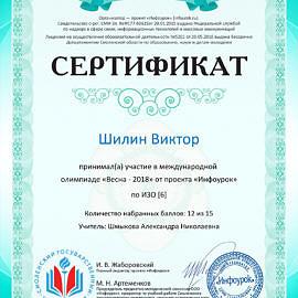 Sertifikat proekta infourok.ru 1642982240935 270x270 Достижения обучающихся