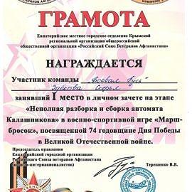 Zubkova Sofya 00143 270x270 Достижения обучающихся