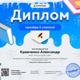 kravchenko aleksandr 270x270 Достижения обучающихся
