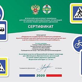 certificate 1 270x270 Достижения учреждения